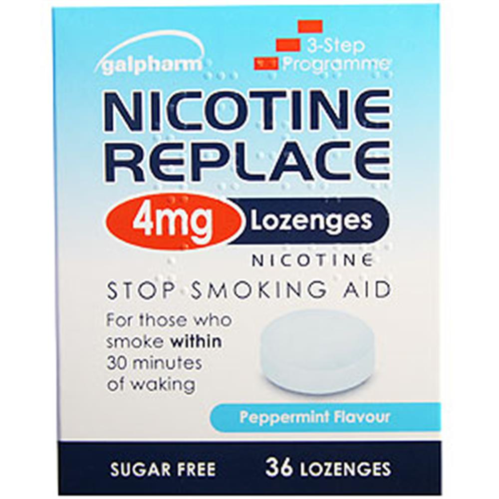 Picture of Galphram Nicotine Replace 4mg Lozenges