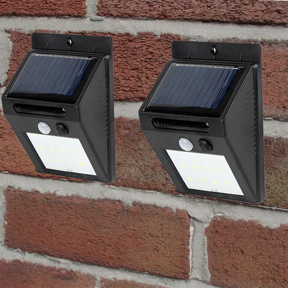 Picture of Spear & Jackson: Solar PIR Security Lights 2 Pack