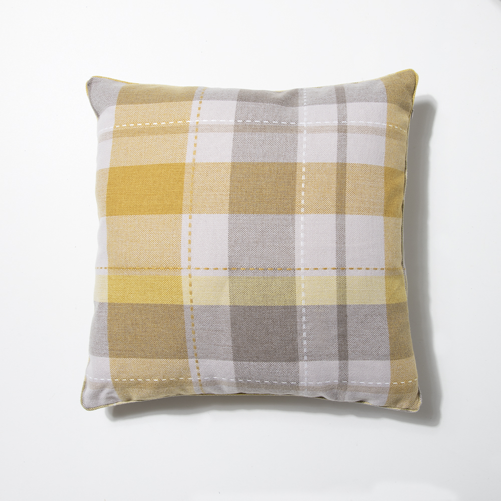 Picture of Home Collections: Large Check Cushion - Ochre