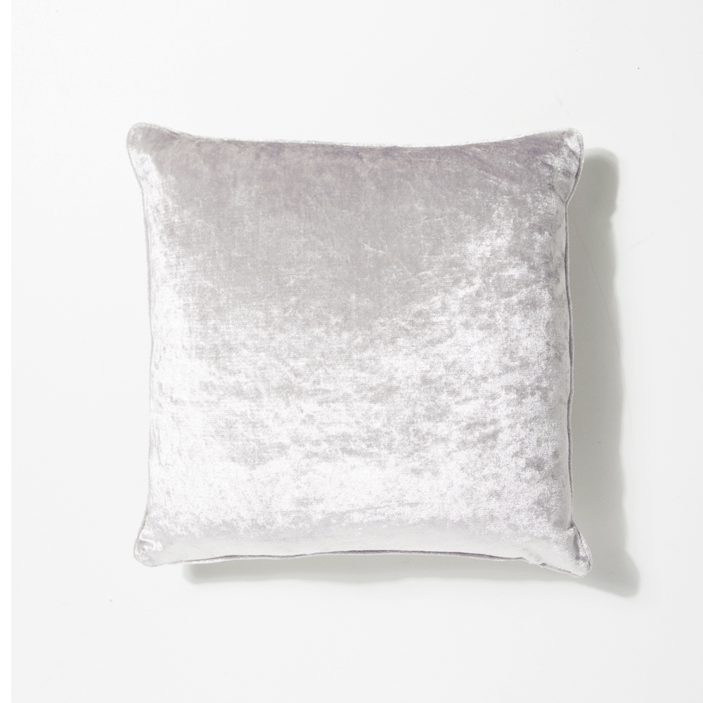Picture of Home Collections: Crushed Velvet Cushion - Silver