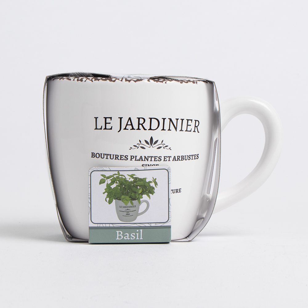 Picture of Bee's Seeds: Le Jardinier Herb Grow Set - Basil