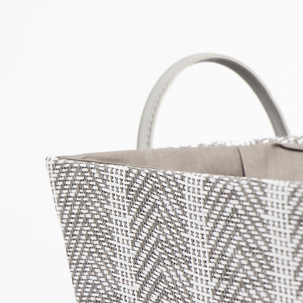 Picture of Home Collections: Foldable Fabric Storage Basket with Handle - Chevron