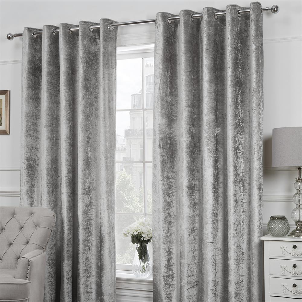 Picture of Adore Collection: Crushed Velvet Curtains - Silver