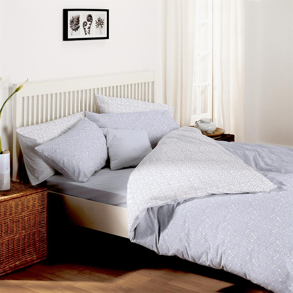 Picture of Home Collections Maroc Printed Duvet Set - Blue