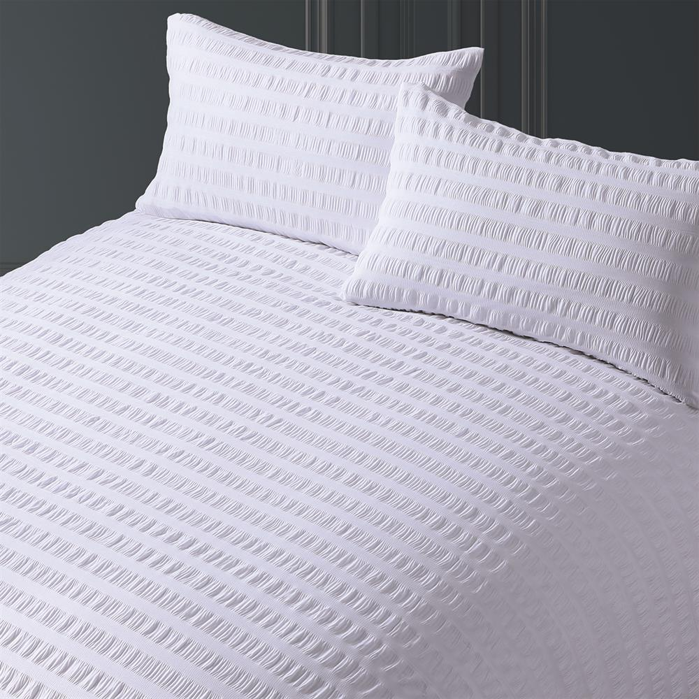 Picture of Home Collections: Easycare Seersucker Duvet Set - White