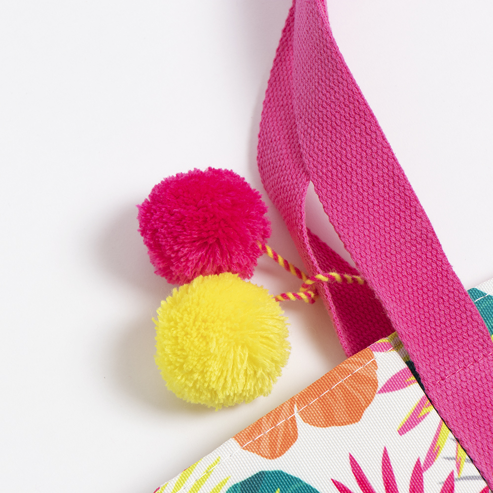 Picture of Sea You There: Pom-Pom Beach Bag