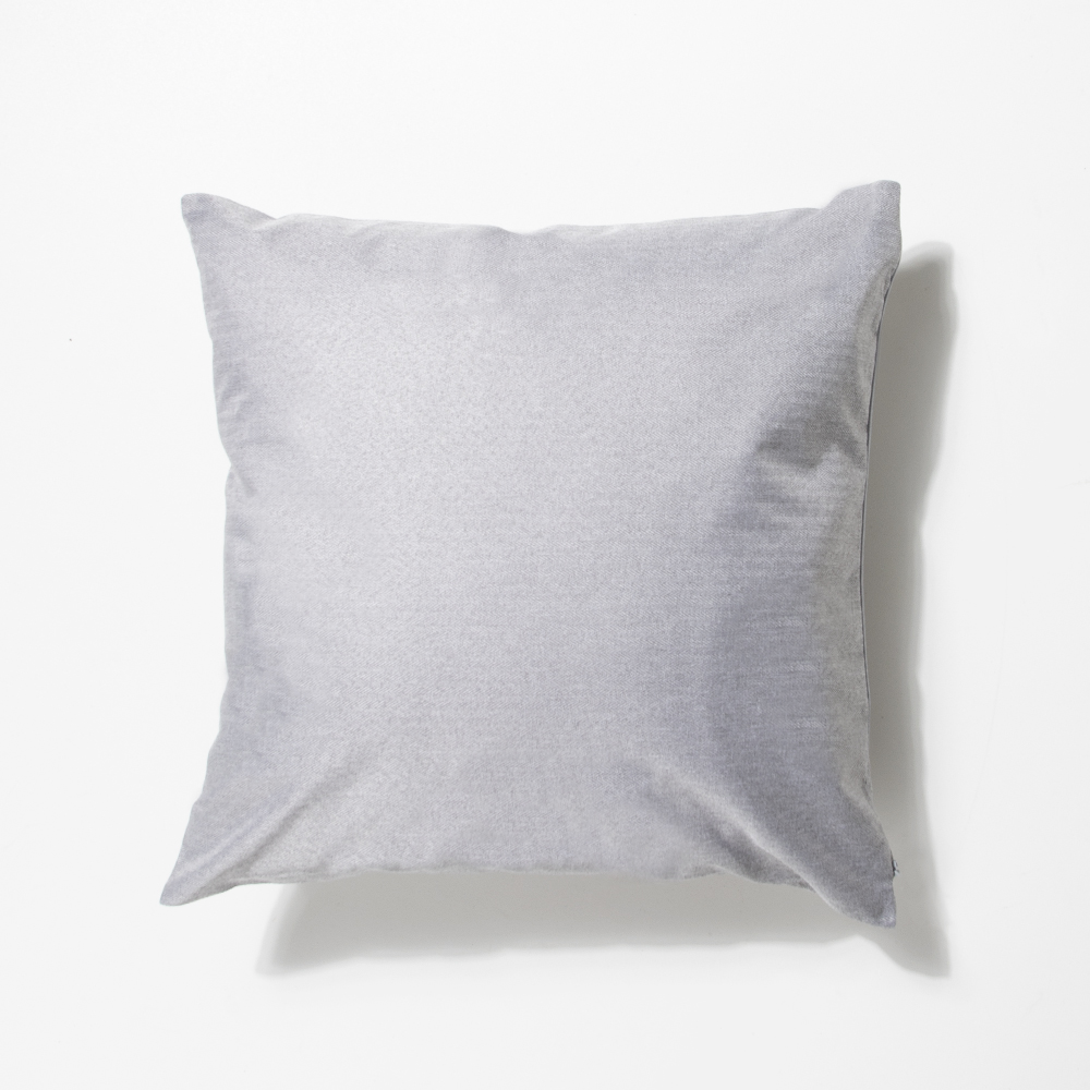 Picture of Home Collections: Medium Velvet Feather Cushion - Grey