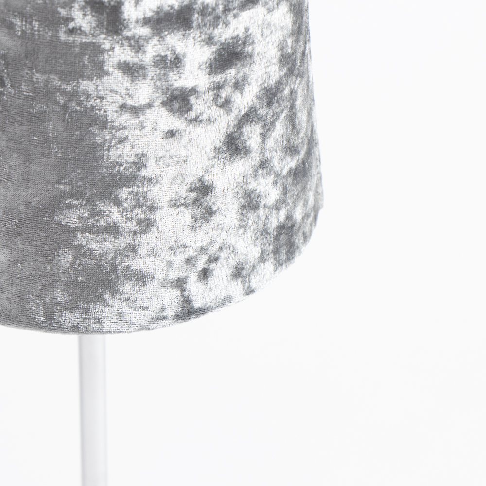 Picture of Home Collections: Crushed Velvet Table Lamp - Silver