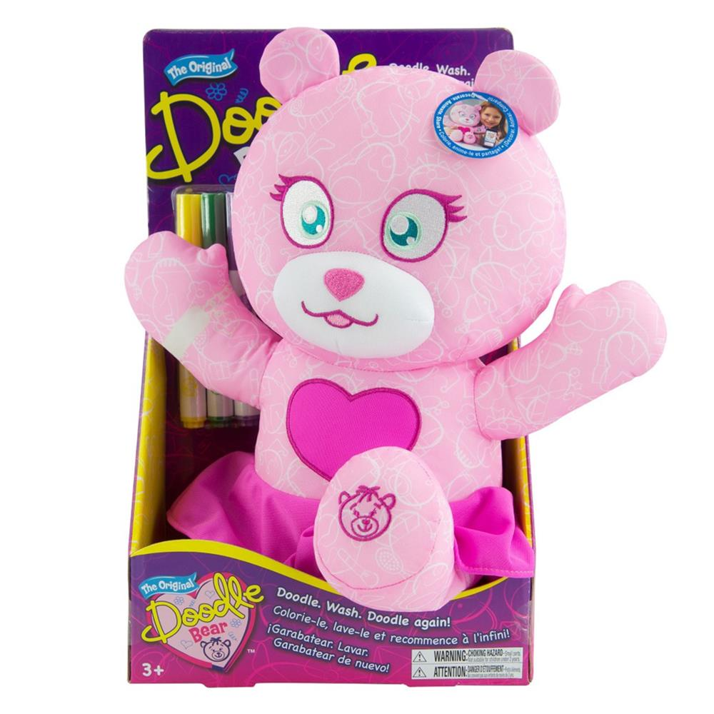 Picture of The Original Doodle Bear: Plush Toy with 3 Washable Markers - Fashion