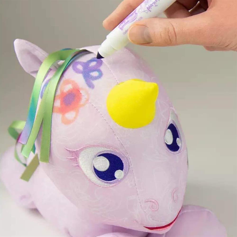 Picture of The Original Doodle Bear: Plush Toy with 3 Washable Markers - Unicorn