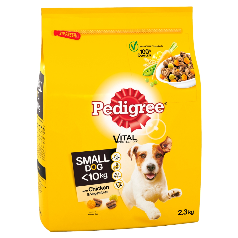 Picture of Pedigree Adult Complete Dry Small Dog Food Chicken and Veg 2.3kg
