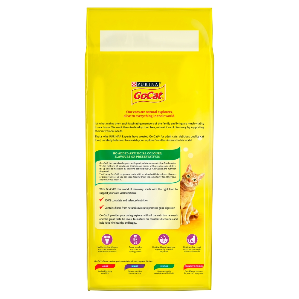 Picture of GO-CAT with Chicken and Duck Dry Cat Food (4 x 2kg Bag)