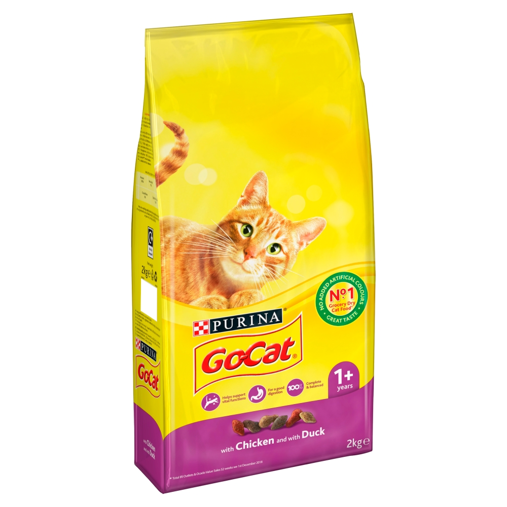 Picture of GO-CAT Senior 7+ with Chicken & Vegetables Dry Cat Food (4 x 2kg)