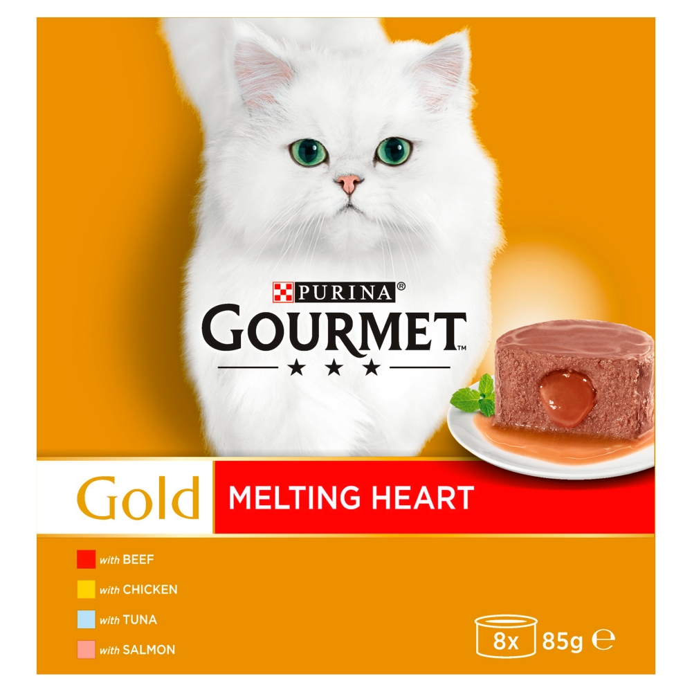 Picture of Gourmet Gold Cat Food Melting Heart Meat and Fish (24 x 85g)