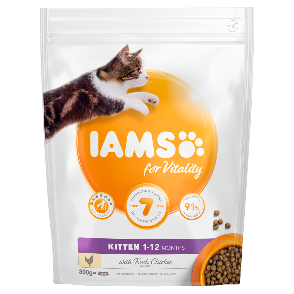 Picture of Iams: for Vitality Kitten Food with Fresh Chicken 800g