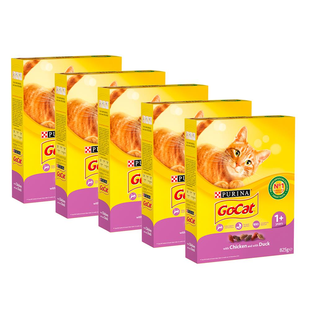 Picture of Go-Cat: with Chicken and with Duck Dry Cat Food 1+ (Case of 5 x 825g)