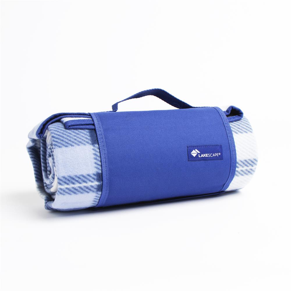 Picture of Lakescape Blue Check Picnic Blanket