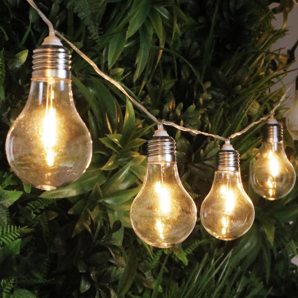 Picture of Prestige 10 Mains LED Plastic Bulb String Party Lights: Warm White