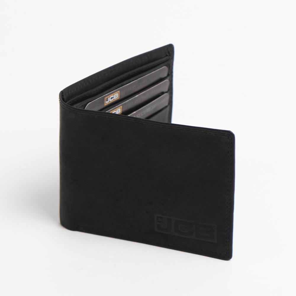 Picture of JCB: RFID Blocking Leather Wallet - Black
