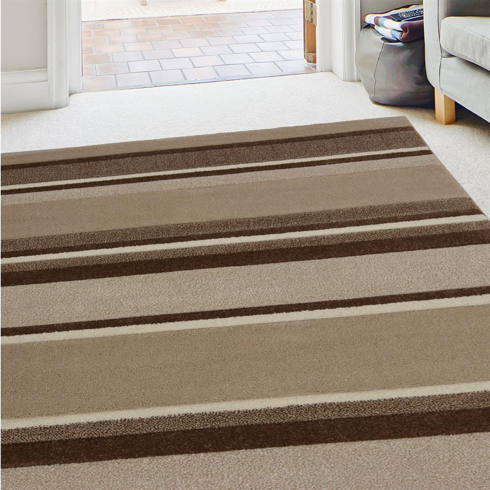 Picture of Carved Stripe Natural Rug