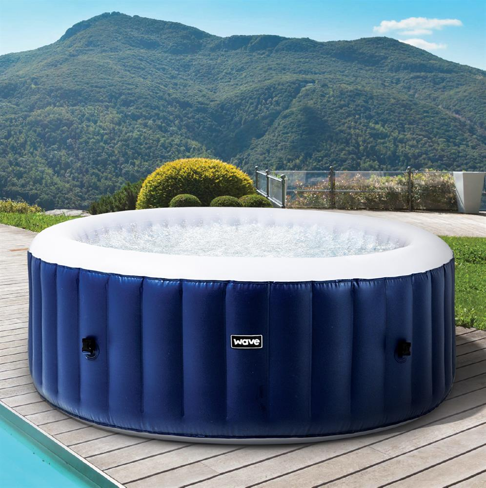 Picture of Wave Atlantic Plus Inflatable Hot Tub - Blue (4-6 Person)