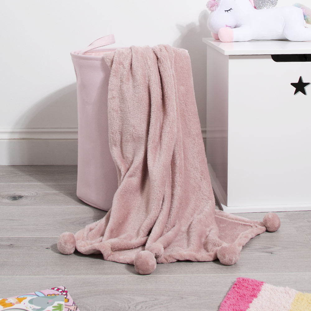 Picture of My Little Home: Pom Pom Throw - Blush Pink