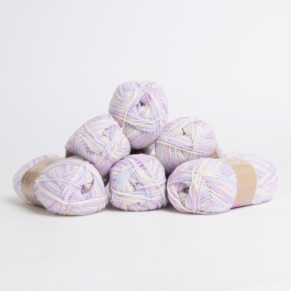 Picture of Crafty Things: Printed Yarn - Multi/Pastel (6 x 50g)