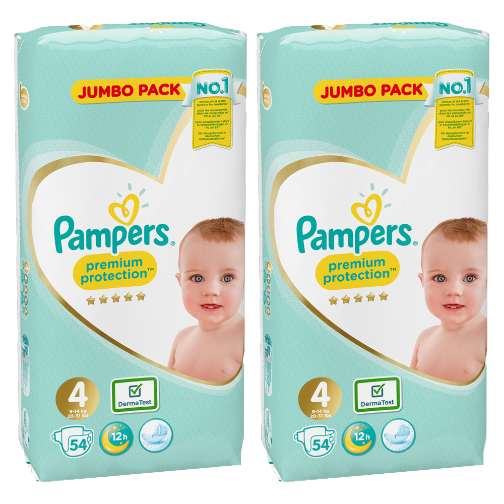 Picture of Pampers Premium Protection Size 4 (Case of 2 x 54 Nappies)