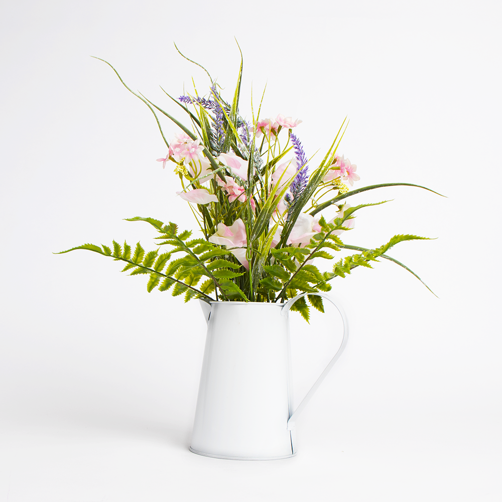 Picture of Forever Faux: Mixed Flowers in Watering Can