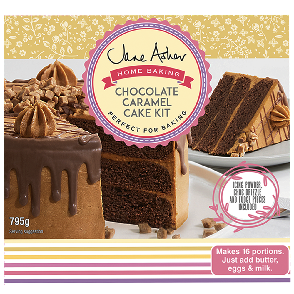 Picture of Jane Asher: Home Baking Chocolate Caramel Cake Kit 795g (Case of 4)