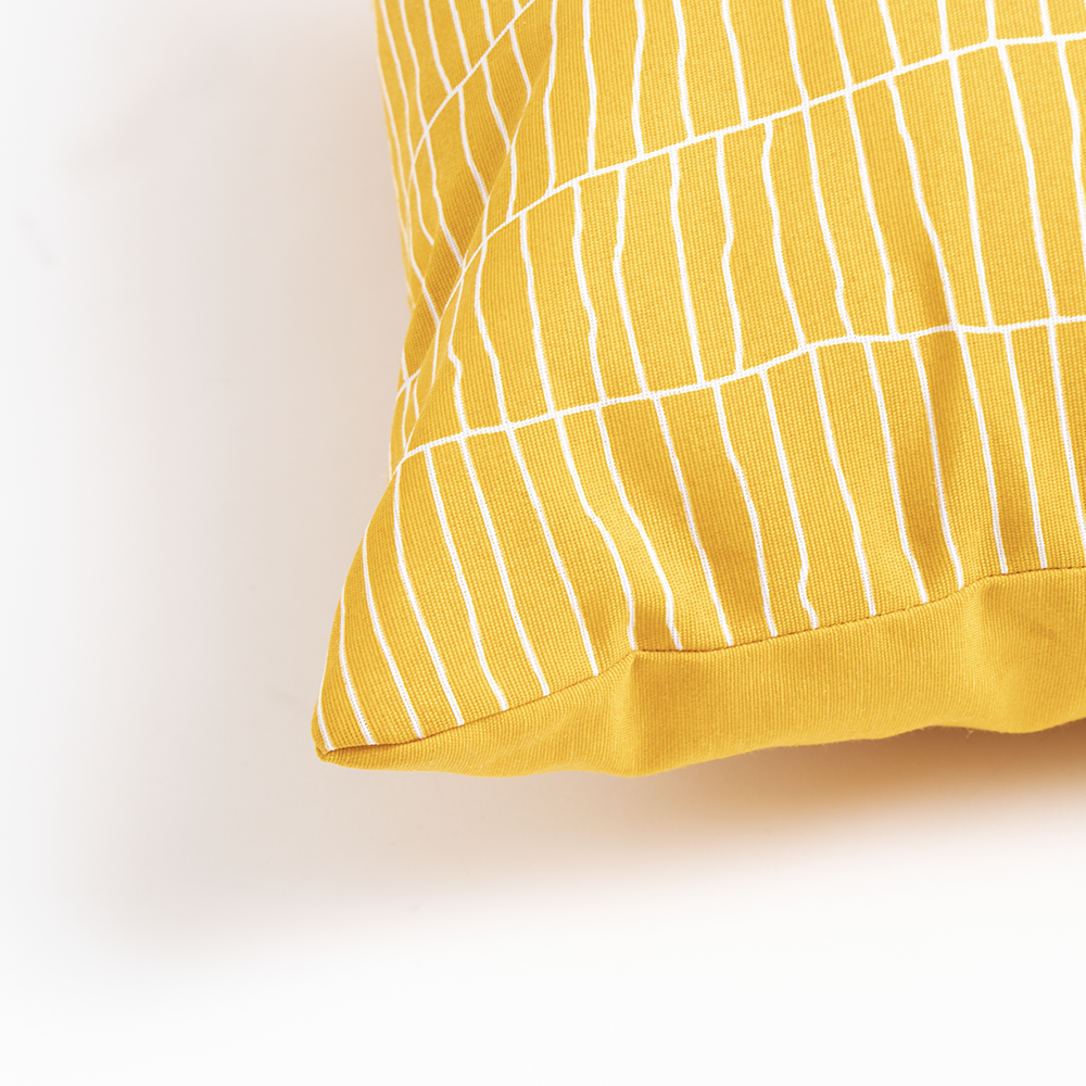 Picture of Jardin Privé Ochre Print Outdoor Cushion