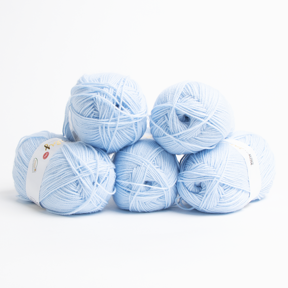 Picture of The Yarn Company: Baby Double Knitting Yarn 100g - Baby Blue (Case of 5)