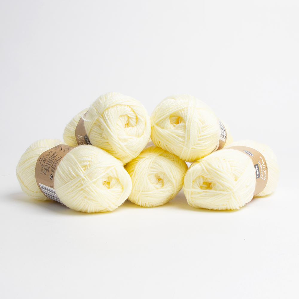 Picture of Crafty Things: Double Knit Yarn - Lemon 100g (Case of 6)