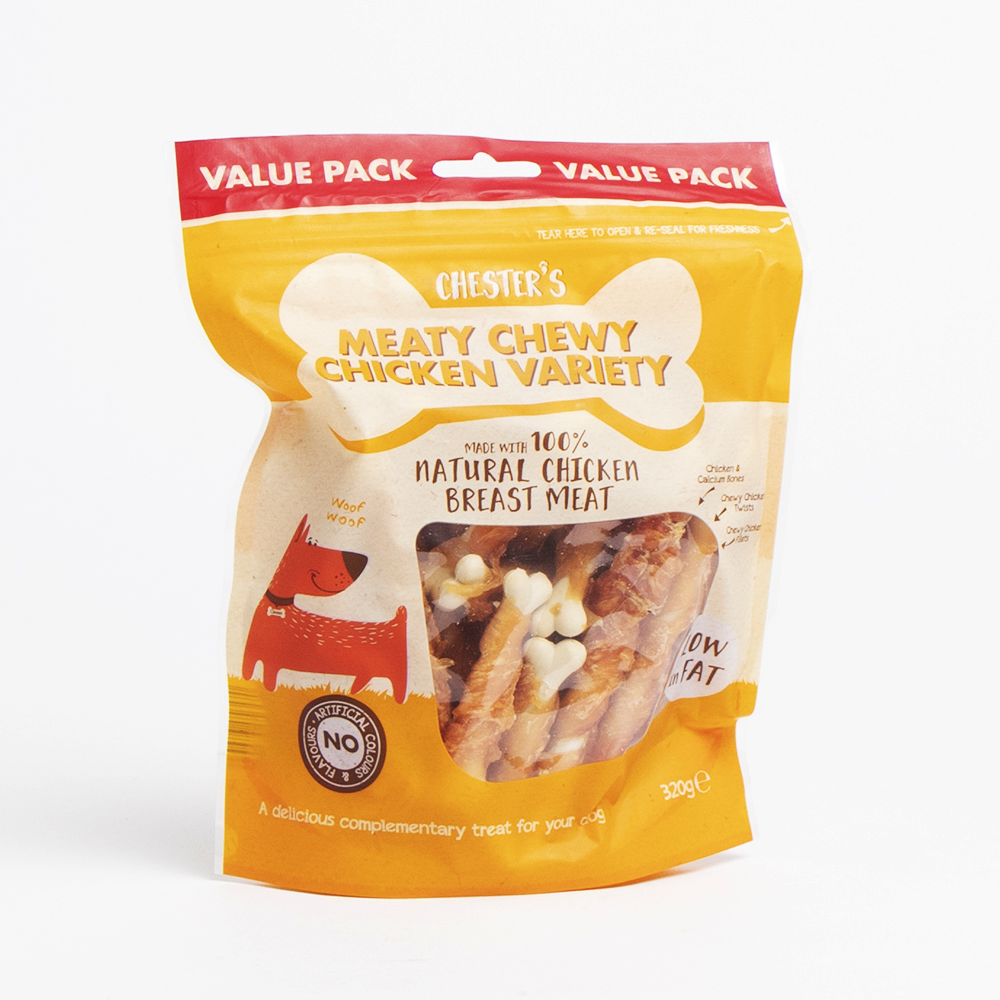 Picture of Chester's: Meaty Chewy Chicken Variety 320g