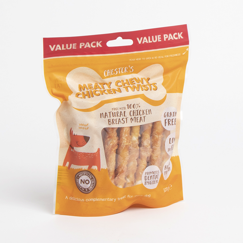 Picture of Chester's: Meaty Chewy Chicken Twists 320g