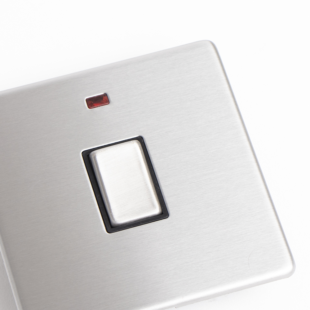 Picture of Status: 20A Single Switch with Power Indicator - Stainless Steel