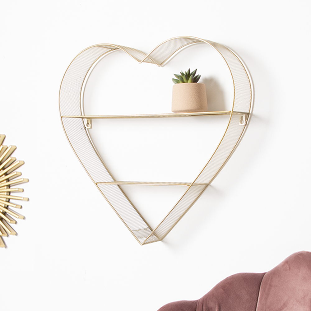Picture of Metal Wire Heart Shelf