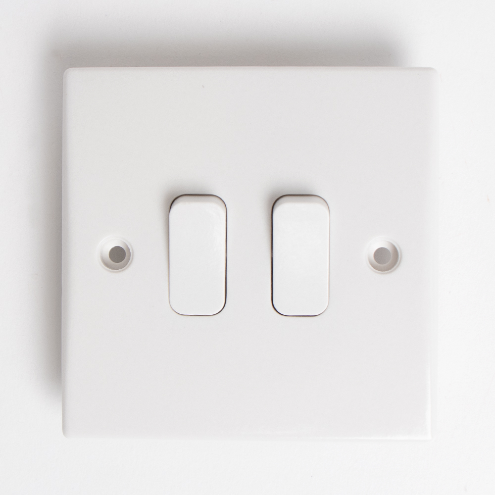 Picture of Status: 2 Way 2 Gang Light Switch (Case of 6)