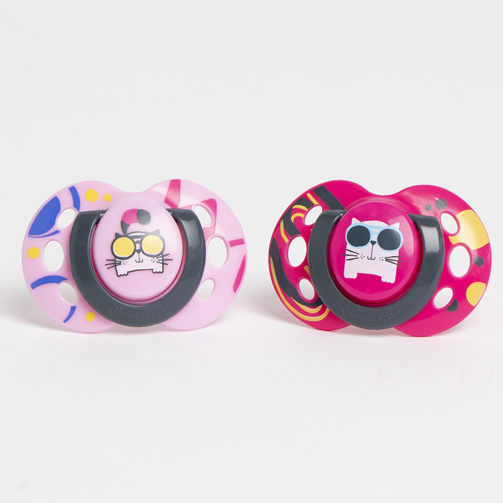 Picture of Tommee Tippee Fun Soother 2 Pack 6-18m