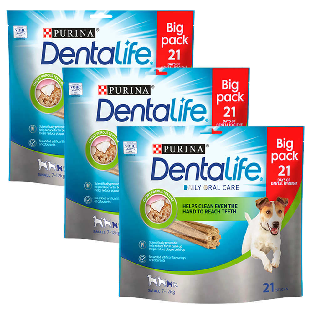 Picture of Dentalife Small Dog Treat Dental Chew (Case of 3 x 21 Stick Pack)
