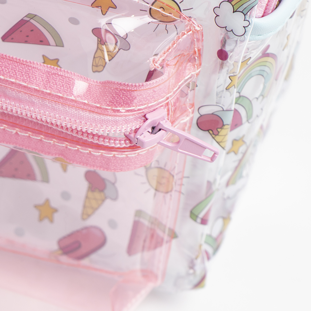 Picture of Hello Summer: Clear PVC Backpack - Rainbows