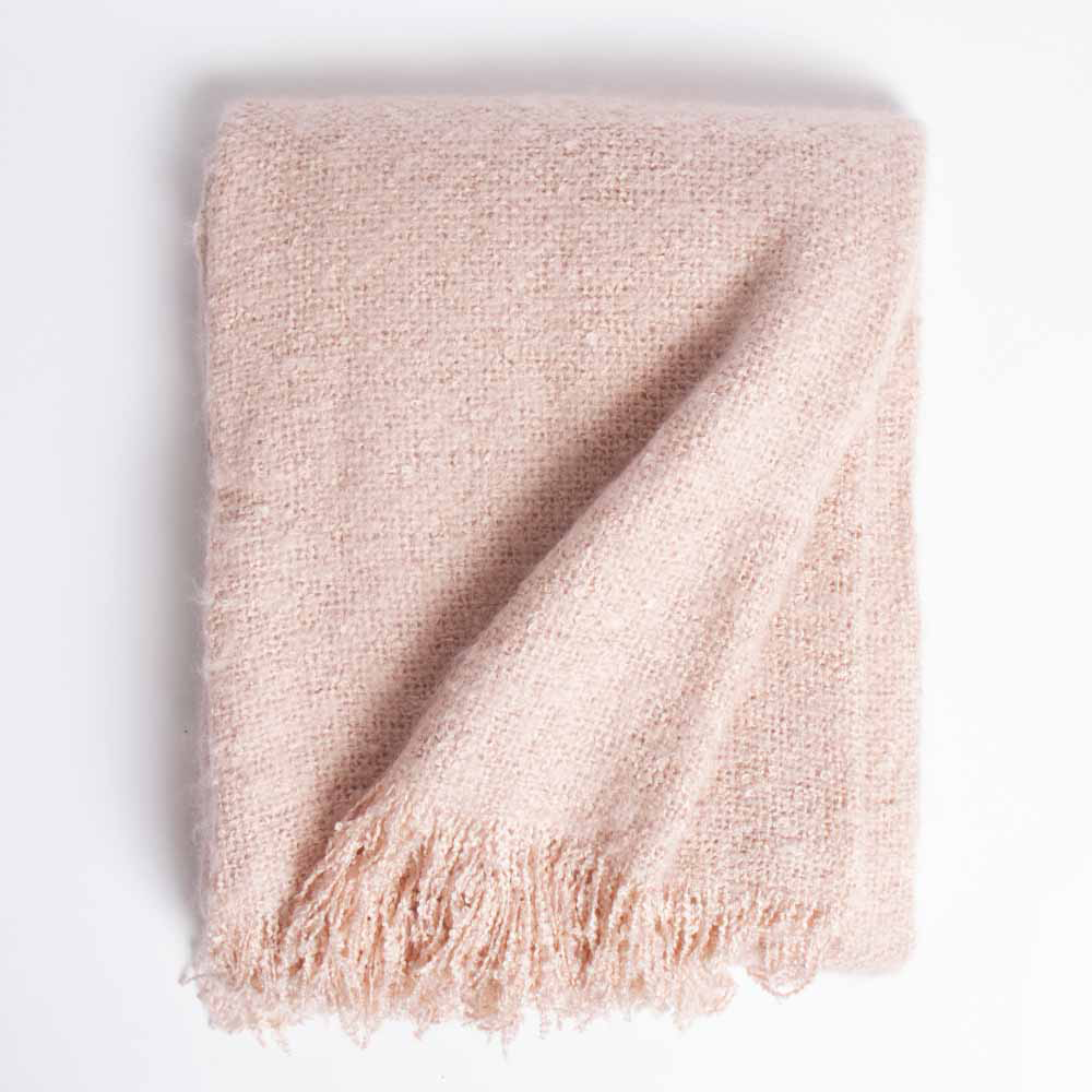 Picture of Home Collections: Super Soft Mohair Throw - Pink