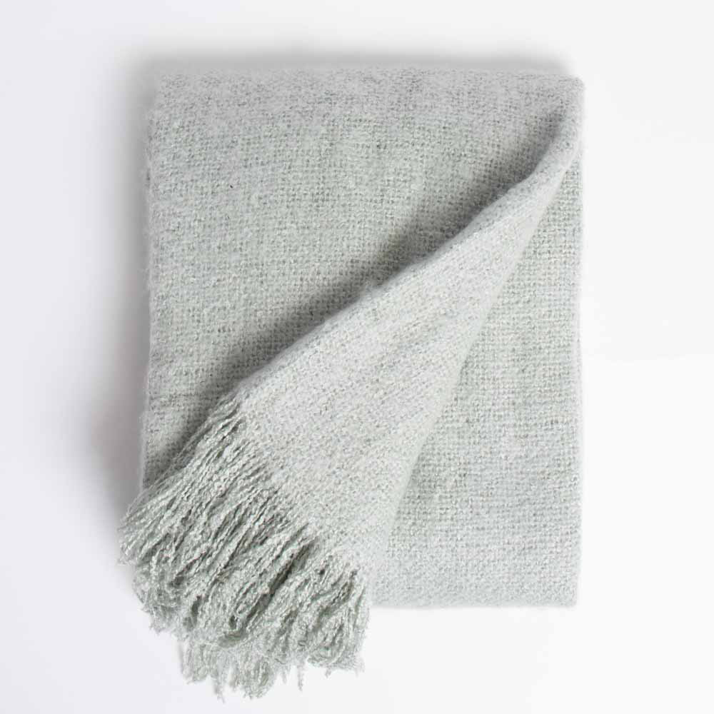 Picture of Home Collections: Super Soft Mohair Throw - Mint