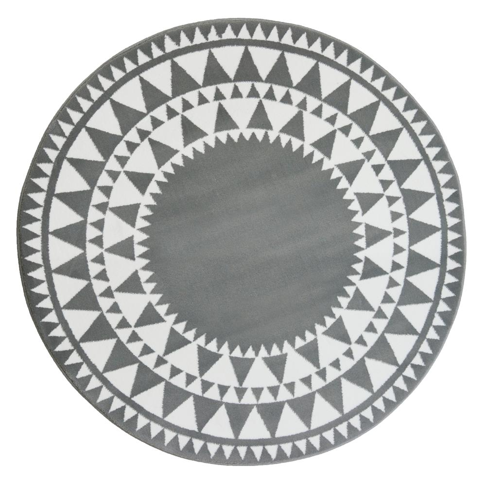 Picture of Aztec Circle Rug: Silver