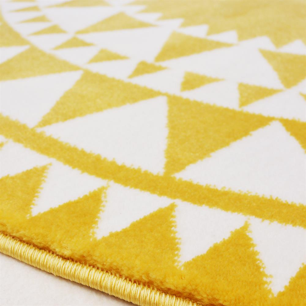 Picture of Aztec Circle Rug: Yellow