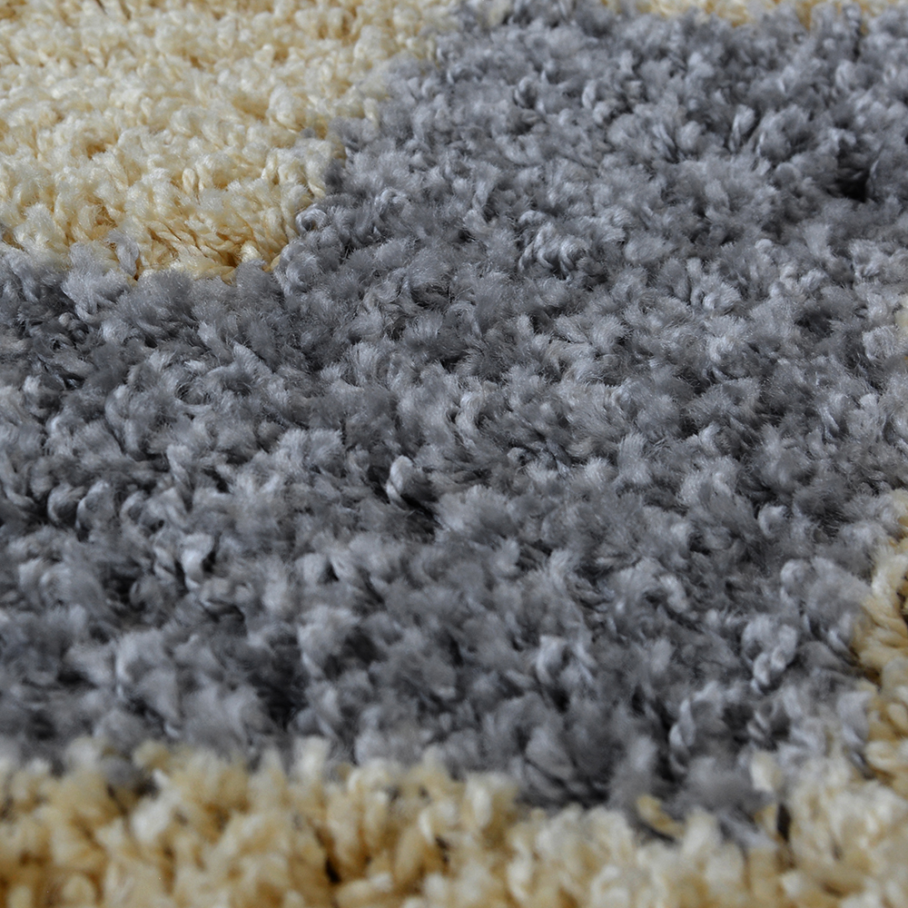 Picture of Chevron Shaggy Rug Grey