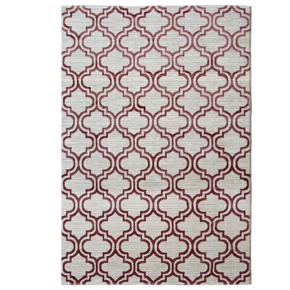 Picture of Pink Tile Rug
