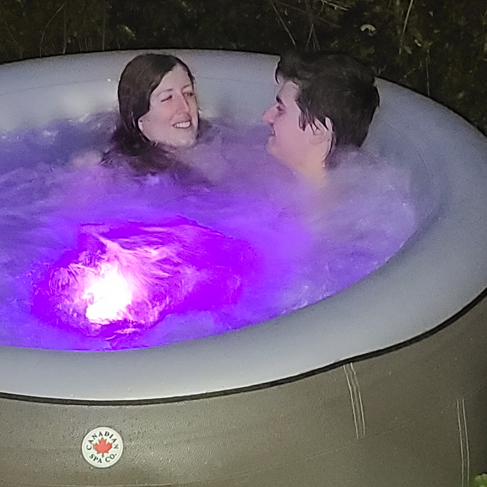 Picture of Canadian Spa Grand Rapids 4 Person Inflatable Hot Tub with LEDs and Aromatherapy System