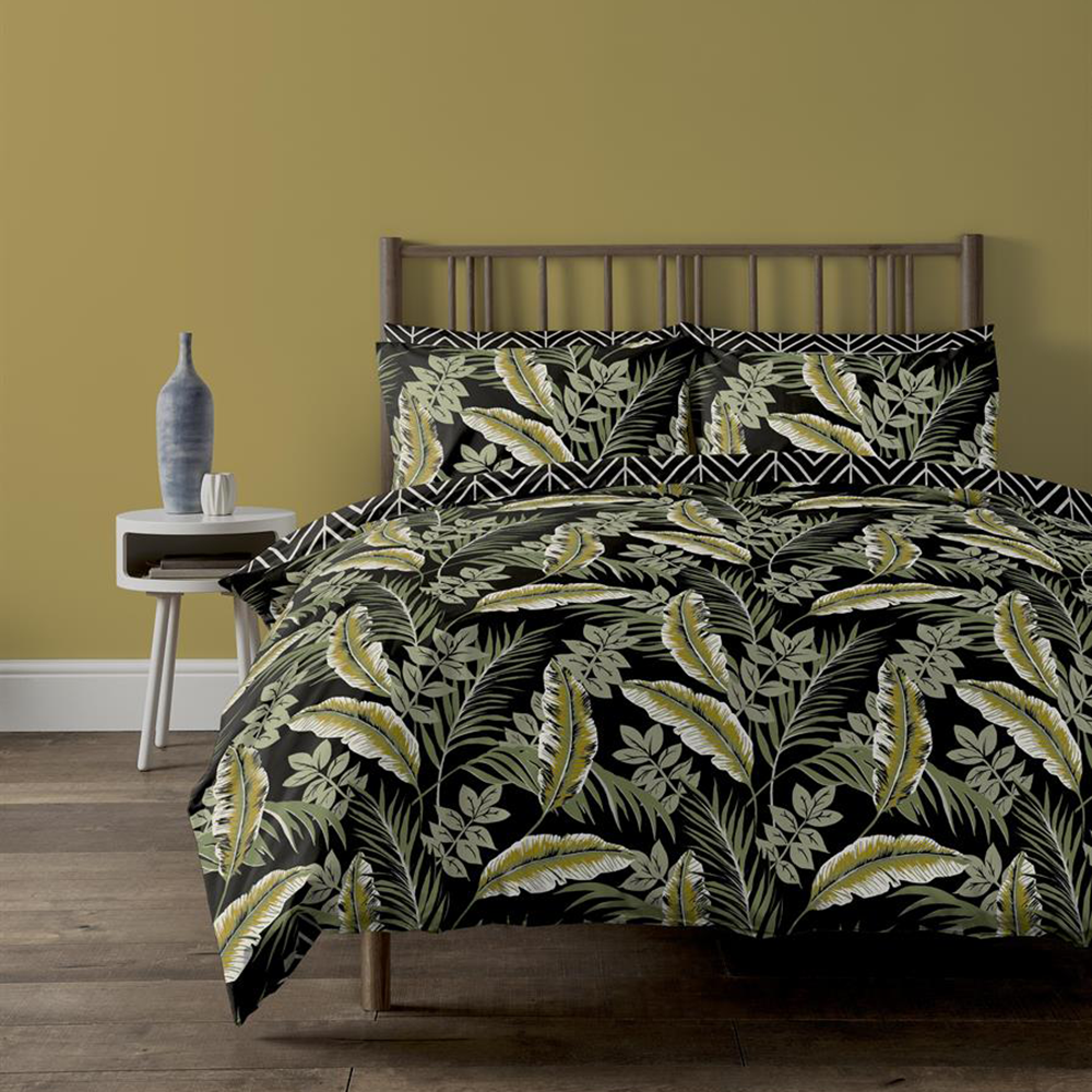 Picture of Home Collections Botanical Palm Leaf Printed Duvet Set
