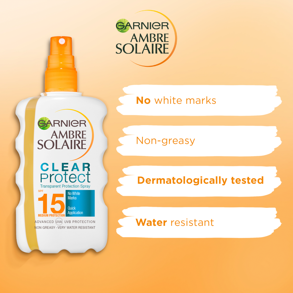 Picture of Ambre Solaire: Clear Protect Transparent Protection Spray 200ml - SPF 15